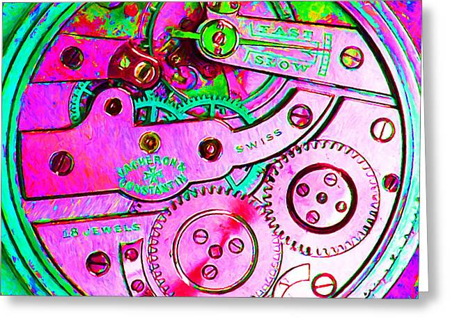 Time In Abstract 20130605p108 Square Greeting Card by Wingsdomain Art and Photography