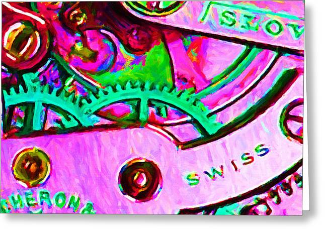 Time In Abstract 20130605p108 Greeting Card by Wingsdomain Art and Photography