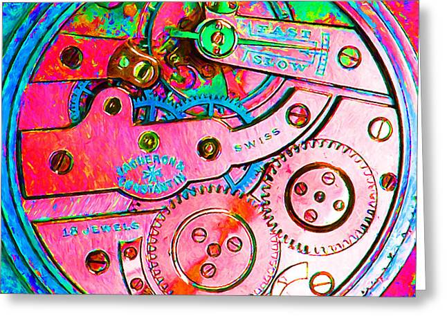 Time In Abstract 20130605p144 Square Greeting Card by Wingsdomain Art and Photography