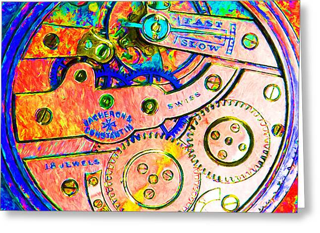 Time In Abstract 20130605p180 Square Greeting Card by Wingsdomain Art and Photography