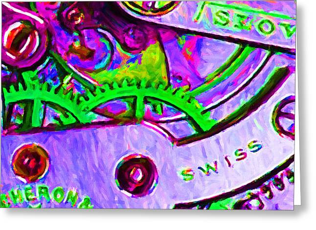 Time In Abstract 20130605p72 Greeting Card by Wingsdomain Art and Photography