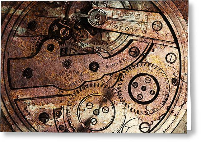 Time In Abstract 20130605rust Square Greeting Card by Wingsdomain Art and Photography