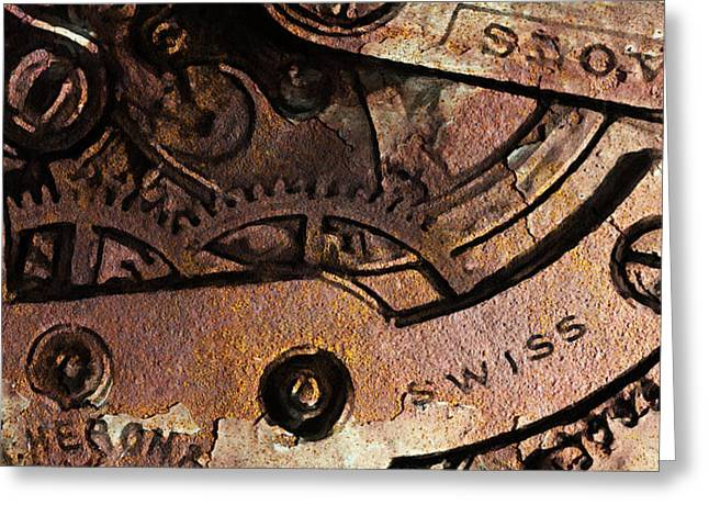 Time In Abstract 20130605rust Greeting Card by Wingsdomain Art and Photography