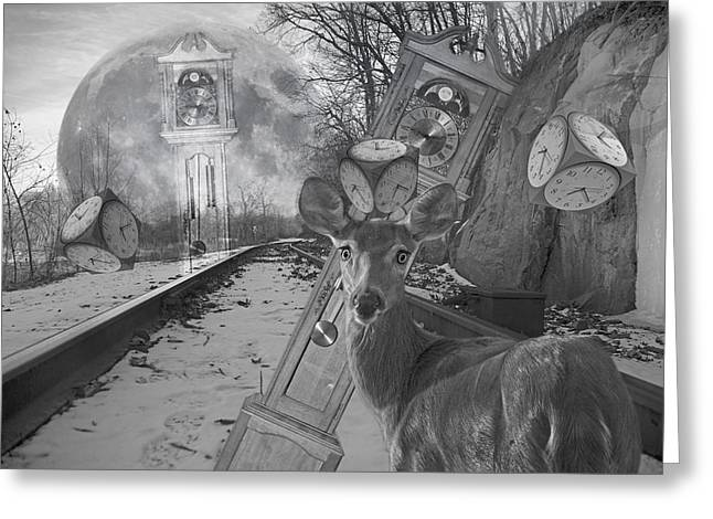 Hunters Moon Greeting Cards - Time is a Target Greeting Card by Betsy C  Knapp