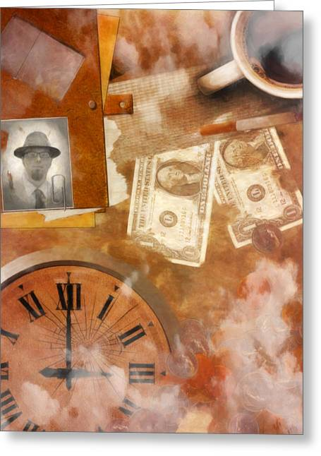 Brown Tones Greeting Cards - Time is Money Greeting Card by Jacob King