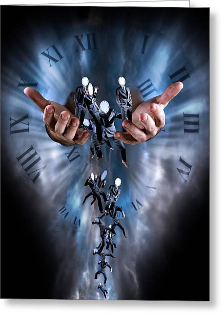Harts Digital Greeting Cards - Time is running out Greeting Card by Nathan Wright