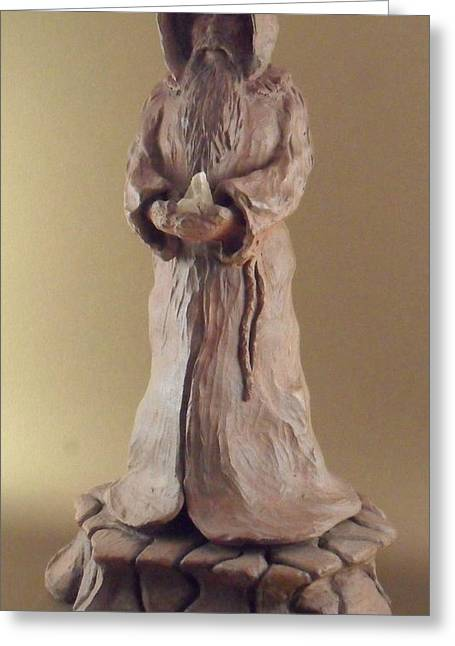 Stoneware Sculptures Greeting Cards - Time Keeper Greeting Card by Scott Russo