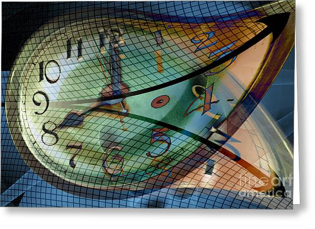 Warp Greeting Cards - Time Line Split In Two, Conceptual Greeting Card by Carol and Mike Werner