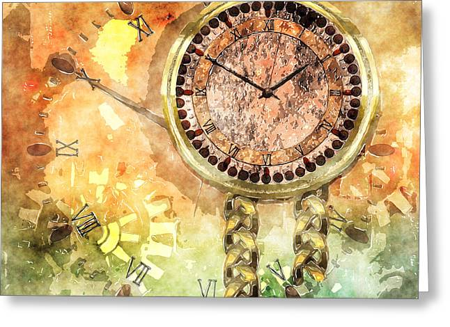 Cog Mixed Media Greeting Cards - Time Lost Greeting Card by Elle Arden Walby