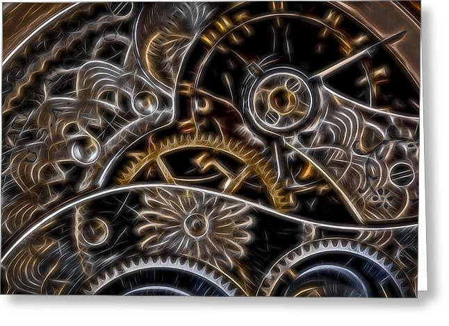 Mechanism Greeting Cards - Time machine 2 Greeting Card by Eduard Moldoveanu