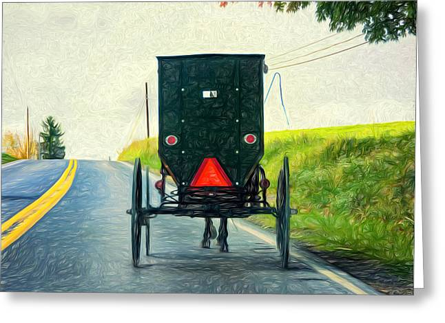 Rural Indiana Greeting Cards - Time Machine -  Paint Greeting Card by Steve Harrington