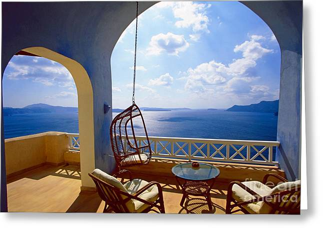 Time Of Siesta Greeting Card by Aiolos Greek Collections
