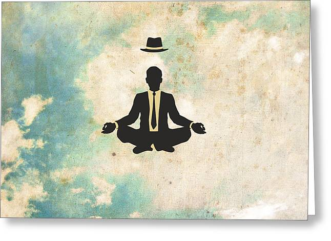 Meditation Digital Greeting Cards - Time Off Greeting Card by Jazzberry Blue