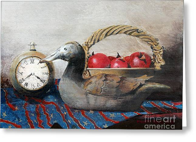 Egg Tempera Paintings Greeting Cards - Time Passes Greeting Card by Monte Toon