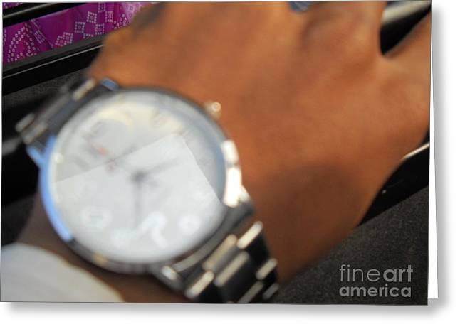 Wrist Watch Greeting Cards - Time piece Greeting Card by ShitlaPrasad Gupta