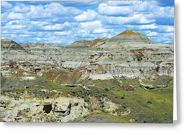 Dinosaur Provincial Park Greeting Cards - Time Revealed Greeting Card by Tony Beck