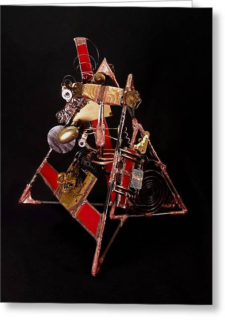 Clock Sculptures Greeting Cards - Time Rewound Greeting Card by Suzanne Lowry