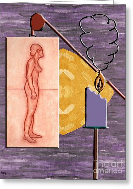 Burning Mixed Media Greeting Cards - Time Running Out Greeting Card by Patrick J Murphy