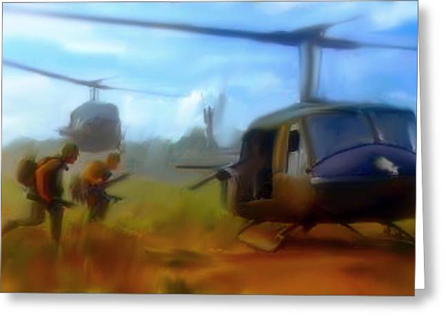 Art Lithographs Greeting Cards - Time Sacrificed II Vietnam Veterans  Greeting Card by Iconic Images Art Gallery David Pucciarelli