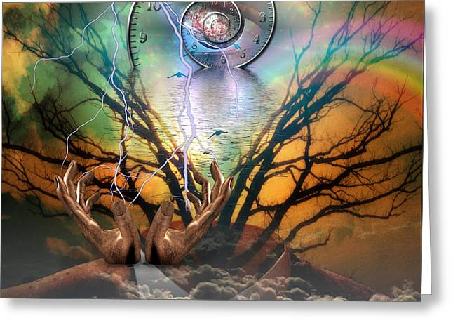 Eternal Flow Digital Greeting Cards - Time Spiral Greeting Card by Bruce Rolff