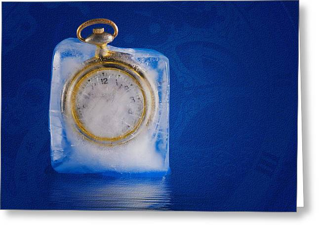 Clock Face Greeting Cards - Time Stands Still Greeting Card by Tom Mc Nemar