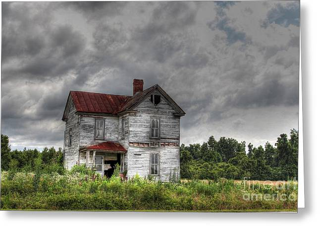 Abandoned Houses Greeting Cards - Time Stood Still Greeting Card by Benanne Stiens
