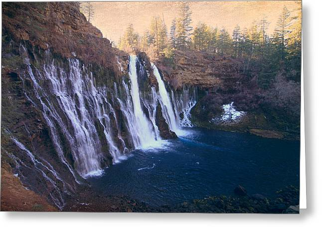 Falling Water Greeting Cards - Time Stopped for a Moment Greeting Card by Laurie Search