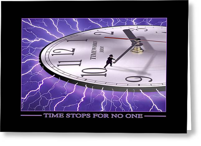 Businessmen Greeting Cards - Time Stops For No One Greeting Card by Mike McGlothlen