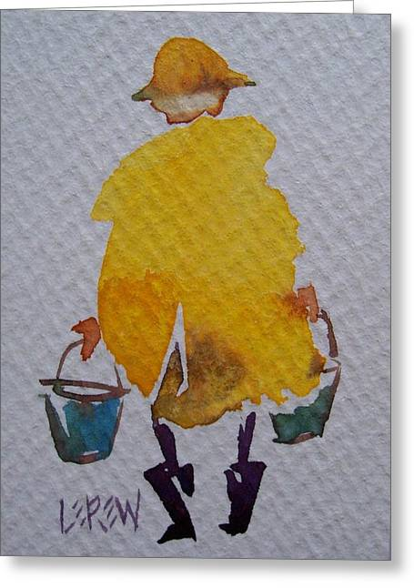 Stormy Weather Drawings Greeting Cards - Time To Bail Greeting Card by Larry Lerew