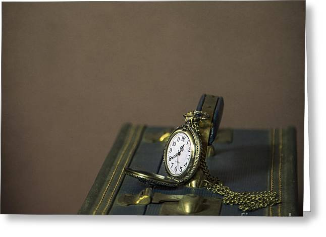 Clock Greeting Cards - Time To Go... Greeting Card by Evelina Kremsdorf