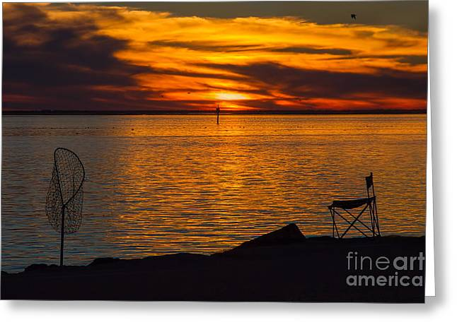 Reflections Of Sun In Water Greeting Cards - Time to Pack It In Greeting Card by Gary Holmes