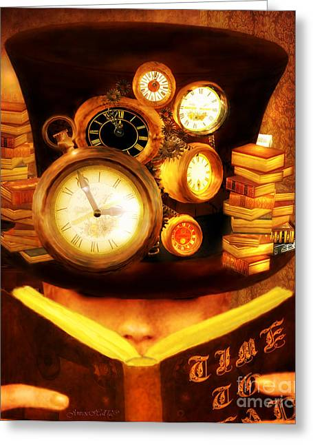 Rosy Hall Greeting Cards - Time to Read Greeting Card by Rosy Hall