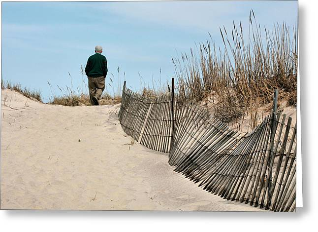 Jones Beach Greeting Cards - Time to Reflect  Greeting Card by JC Findley