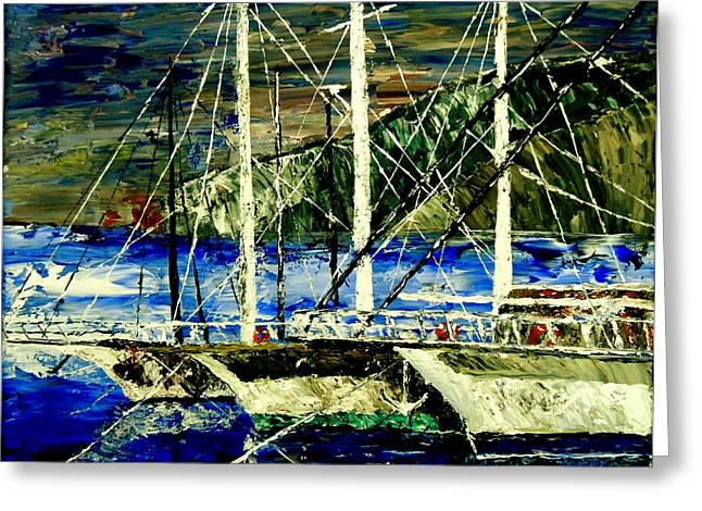Time To Sail  Greeting Card by Mark Moore