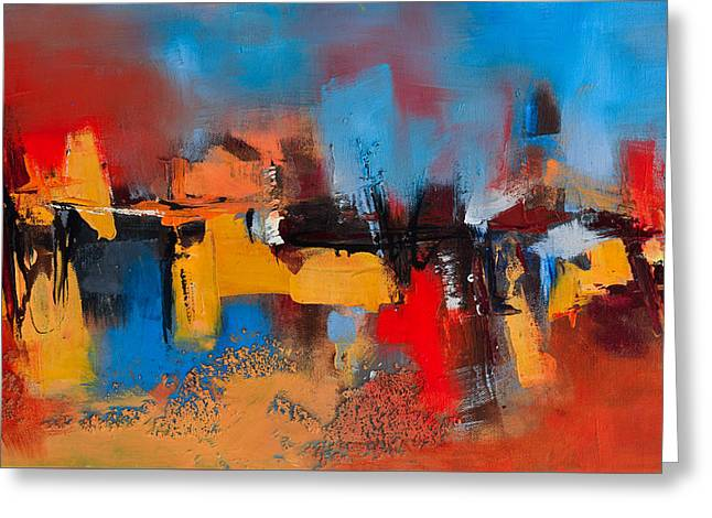 Abstract Expressionist Paintings Greeting Cards - Time to Time Greeting Card by Elise Palmigiani
