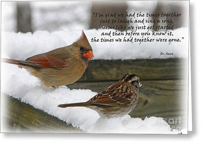 Seu Greeting Cards - Time Together Greeting Card by Sandra Clark