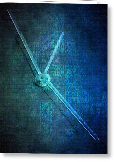 Time Greeting Card by Toppart Sweden