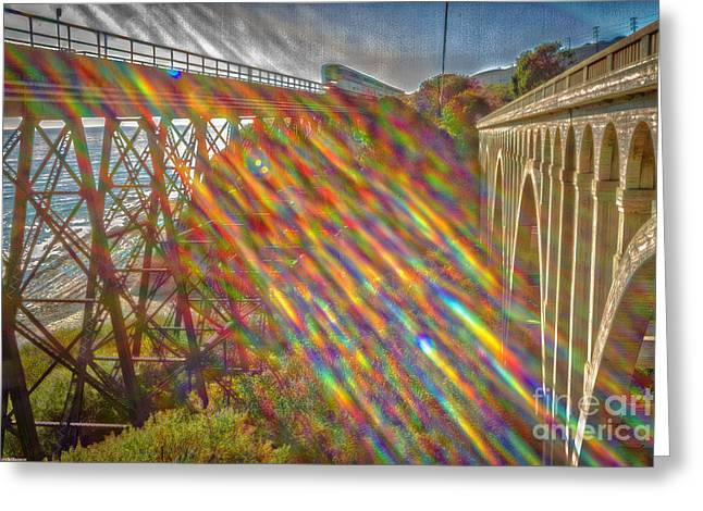California Ocean Photography Greeting Cards - Time Travel Greeting Card by Mitch Shindelbower