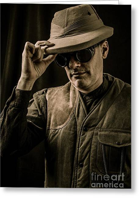 Time Traveler Greeting Card by Edward Fielding