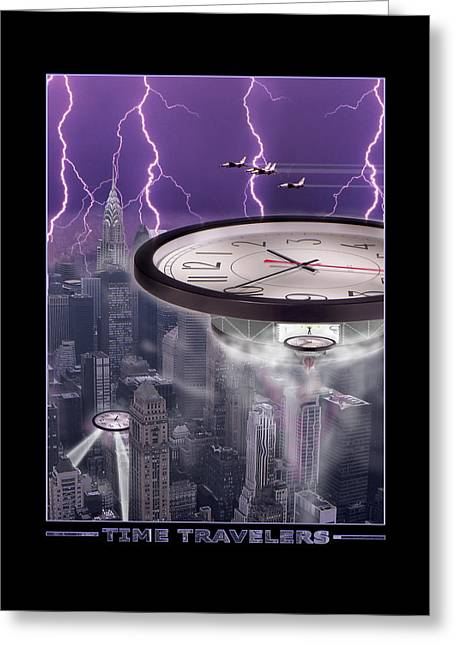 Spacecraft Greeting Cards - TiME TRAVELERS 2 Greeting Card by Mike McGlothlen