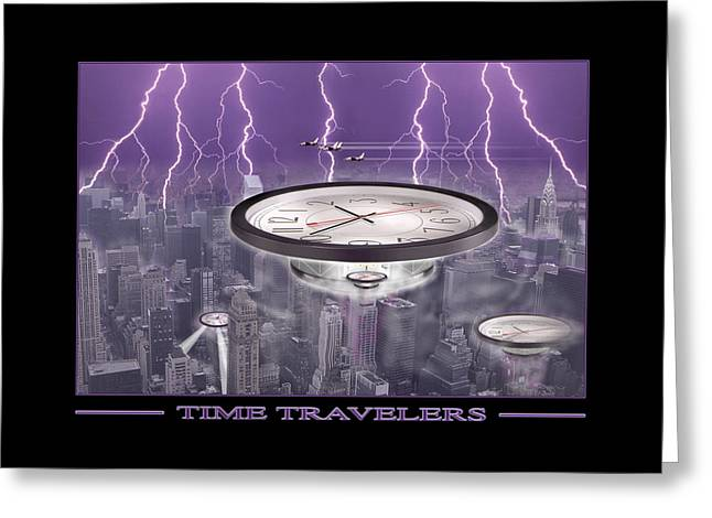 Spacecraft Greeting Cards - Time Travelers Greeting Card by Mike McGlothlen