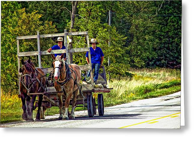Amish Greeting Cards - Time Travelers Greeting Card by Steve Harrington