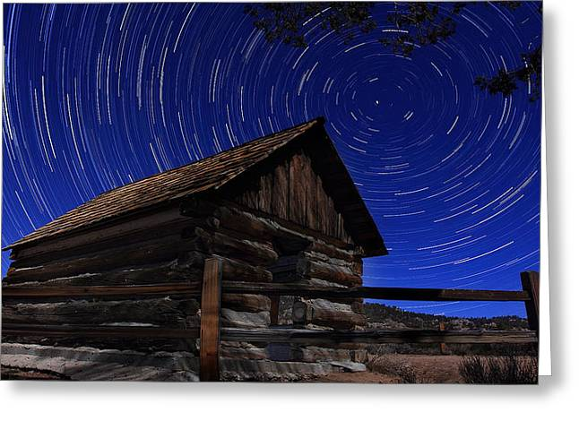 Rustic Cabin Greeting Cards - Time Traveller  Greeting Card by Jason Bates