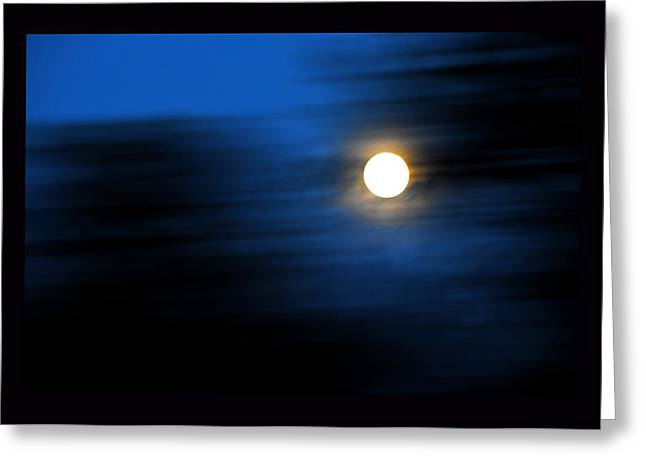 Moonrise Greeting Cards - Time Travelling Greeting Card by Susanne Still