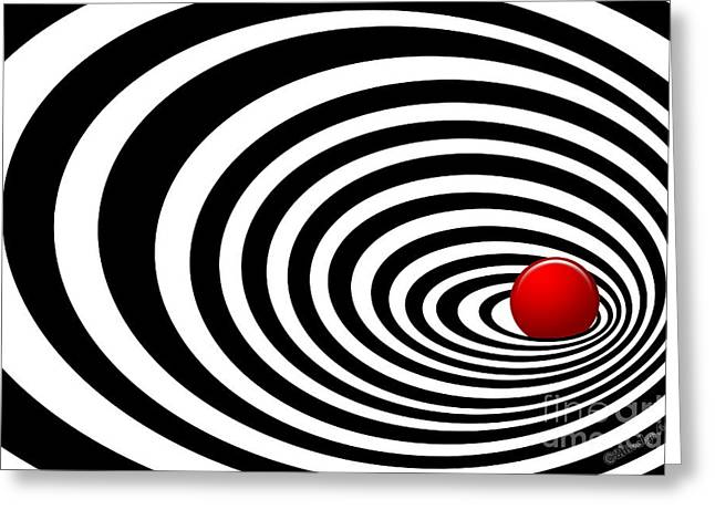 Methune Hively Greeting Cards - Time Tunnel Op Art Greeting Card by Methune Hively