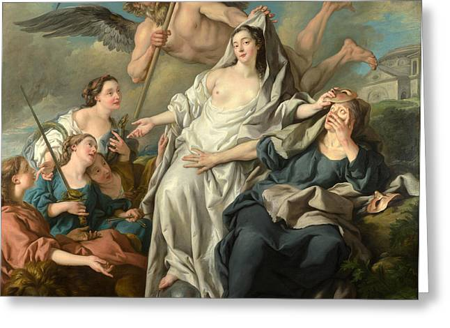 Francois Greeting Cards - Time unveiling Truth Greeting Card by Jean-Francois Detroy