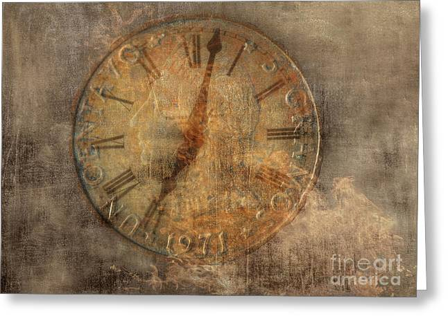 Clock Hands Greeting Card featuring the digital art Time Waits For No One by Randy Steele