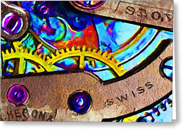Time Waits For Nobody 20130605 square Greeting Card by Wingsdomain Art and Photography