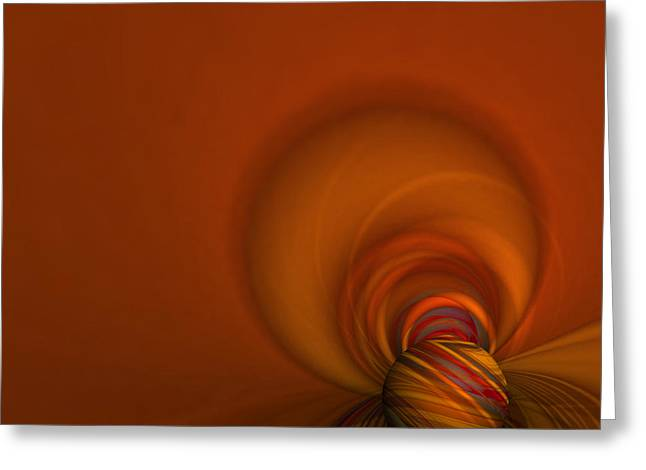 Warp Greeting Cards - Time Warp Greeting Card by Mary Machare