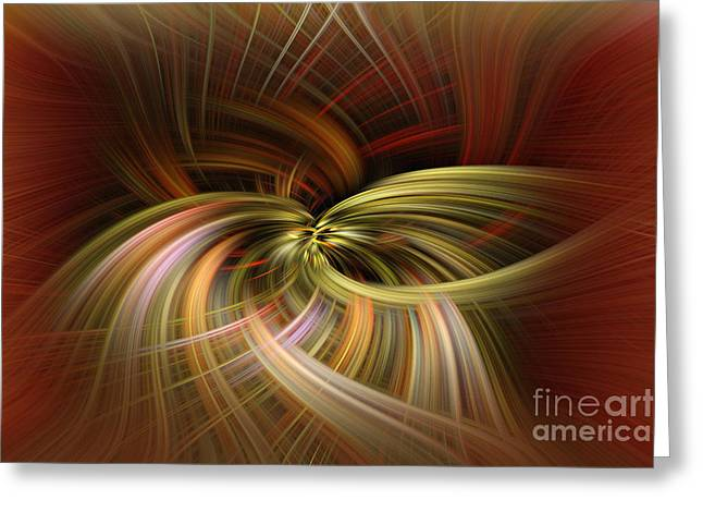 Warp Greeting Cards - Time Warp Greeting Card by T Lowry Wilson